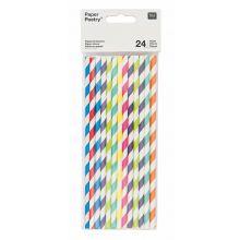 Papier-Strohhalme multicolor mix