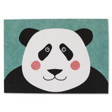 Postkarte Pandabär Panda Ava und Yves