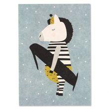 Postkarte Zebra 1 - erster Geburtstag Ava und yves