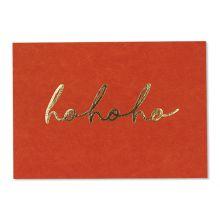 ava-yves Weihnachtskarte hohoho rot