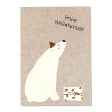ava&yves Postkarte Frohe Weihnachten Eisbär
