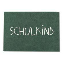 ava & yves Postkarte Schulkind tafelgrün
