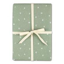 ava & yves Geschenkpapier Buchstaben grün