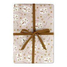 ava&yves Geschenkpapier Zuckerstange und Geschenke rosa