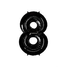 Anagram Folienballon Zahl 8 schwarz