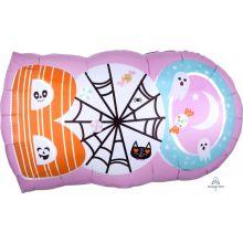 Halloween Ballon BOO rosa