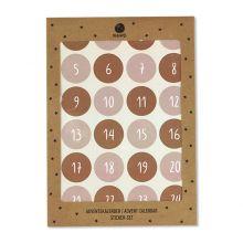 ava&yves Adventskalender Zahlensticker Rosa Rost