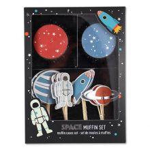Cupcake Set Weltraum