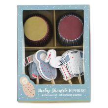 ava&yves Cupcake-Set Babyshower