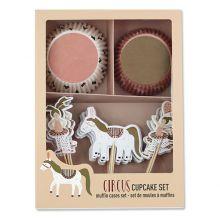 avaundyves Cupcake-Set Zirkusmädchen