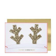 Meri Meri Weihnachtskarte Geweih