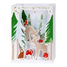 Meri Meri Weihnachtskarte Woodland Aufsteller