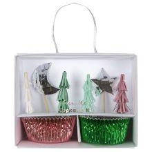 Meri Meri Cupcake-Set Weihnachten