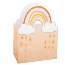 4 Geschenktaschen Regenbogen gold