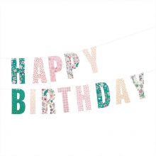 Rico Design Girlande Happy Birthday floral