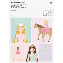 Postkartenblock Prinzessin & Fee