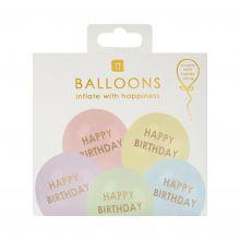 Talking Tables Luftballon Mix Happy Birthday pastell