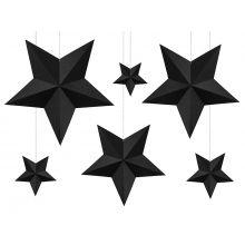 DIY-Sterne Set schwarz