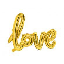 Schriftzug-Ballon Love gold