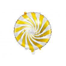 Folienballon Candy gelb weiß gold