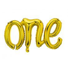 Folienballon Schriftzug One gold