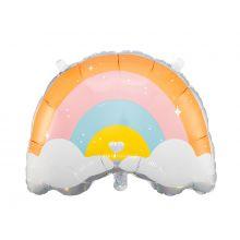 Folienballon Wolke orange-rosa-pastell