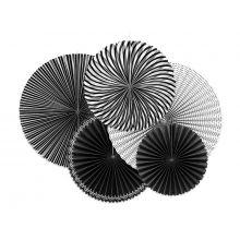 Rosetten Schwarz-Weiß Mustermix
