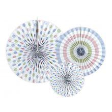 Rosetten-Mix Pastell gemustert