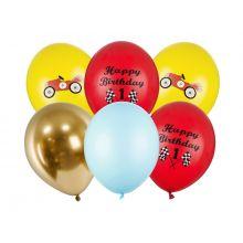 Luftballonset Rennauto
