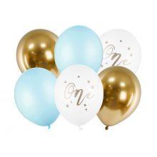 Ballon Set Erster Geburtstag blau gold