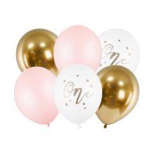 Luftballon Set Erster Geburtstag rosa gold