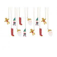 Geschenkanhänger Weihnachten-Mix Santa