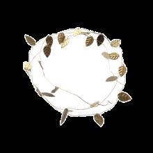 Blätterkranz gold Metall