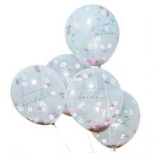 Konfetti Ballons Team Bride Boho Floral