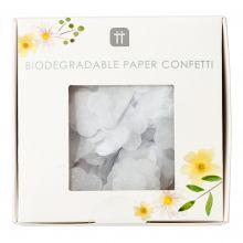 Papierkonfetti weiße Blüten