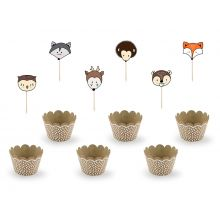 Cupcake-Kit Woodland Partydeco