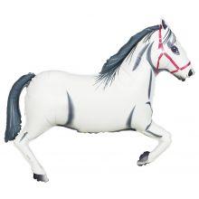 Folienballon Pferd weiß