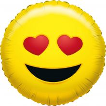 Folienballon Emoji Love
