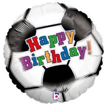 Folienballon Happy Birthday, Fußball