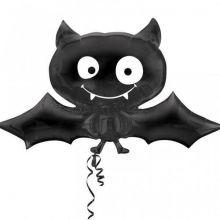Fledermaus Ballon schwarz