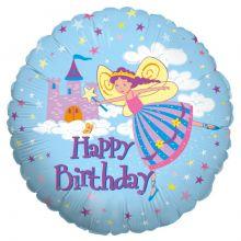 Folienballon Happy Birthday Feen-Prinzessin