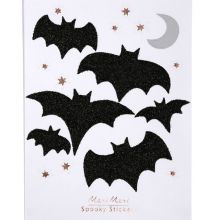 Meri Meri Halloween Glitter Sticker Fledermaus