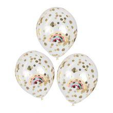 Ginger Ray Regenbogen & Gold Konfetti Ballons