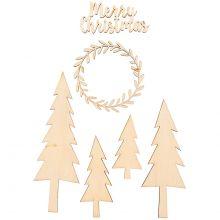 Holzdeko Merry Christmas
