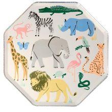 Meri Meri Partyteller Safari Animals groß