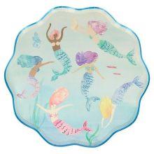 Meri Meri Partyteller Meerjungfrauen Mermaids