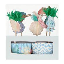 Meri Meri Cupcake Set Mermaids Meerjungfrauen
