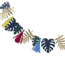 Ginger Ray Multicolor Blätter und Tassel Girlande