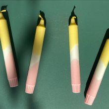 Lou Loto Dip Dyed Kerze Ocker Rosa Nr.12