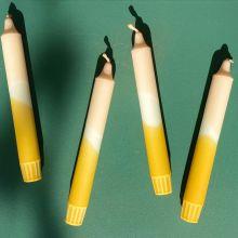 Lou Loto Dip Dyed Kerze Pfirsich Ocker Nr. 24